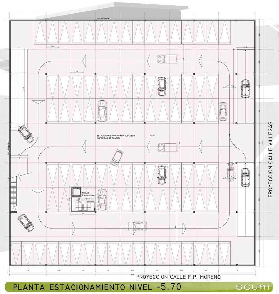 Dise O De Estacionamientos Vehiculares Medidas De