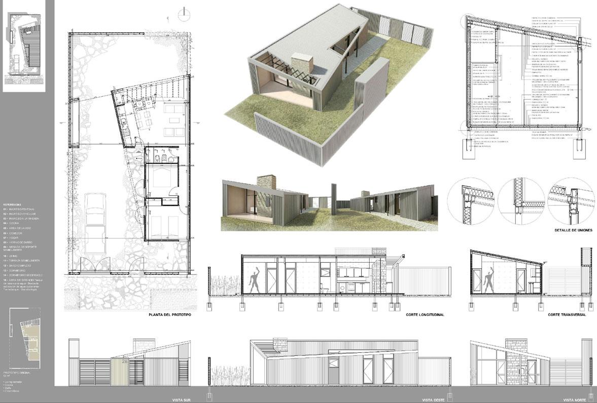 Proyecto prototipo de vivienda de for Casa de diseno en neuquen